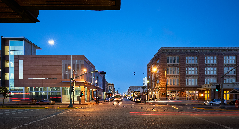 Galveston Downtown Transit Terminal Powers Brown